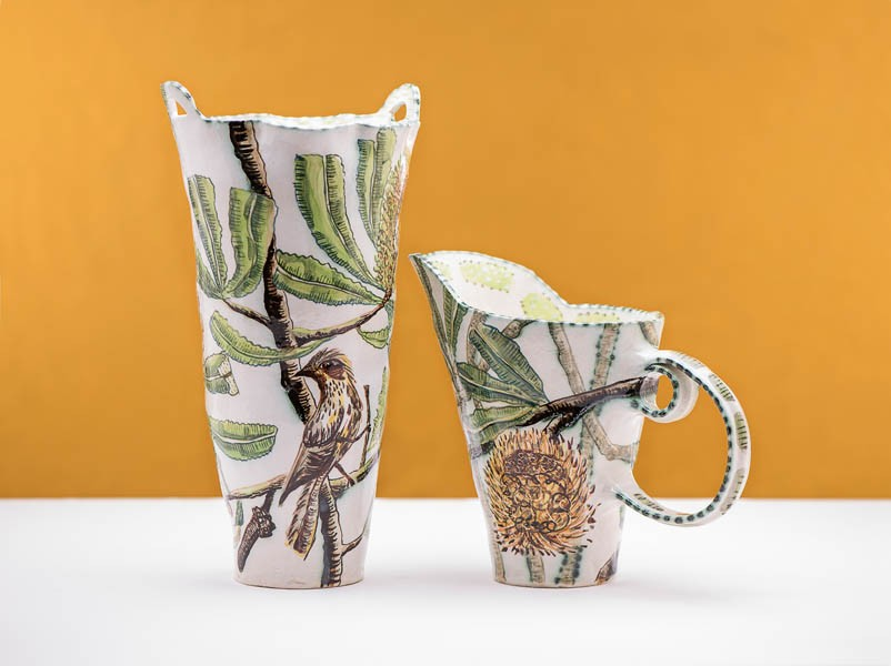 Banksia Serata Vessel and Pitcher