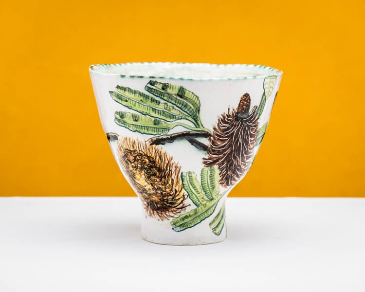 Banksia Serata bowl with Bogong Moth by Fiona Hiscock